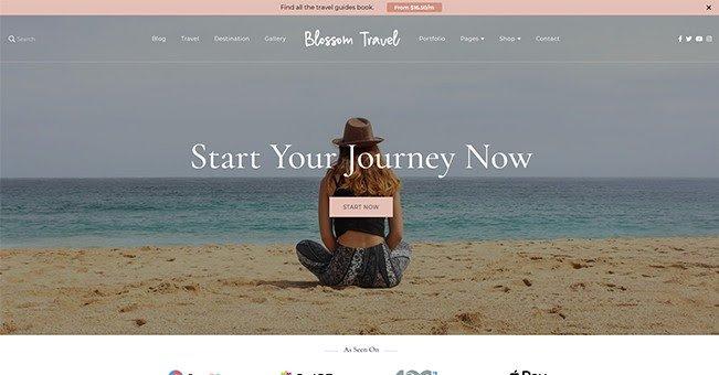 Blossom Travel tema de blogs gratuito de WordPress