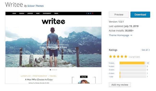 escribir tema de wordpress para bloggers