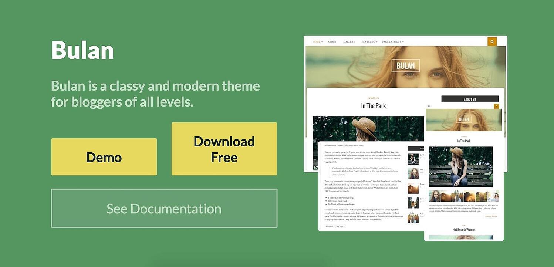 Bulan tema de blogs gratuito de WordPress