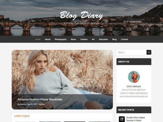 blog diario tema de wordpress gratis