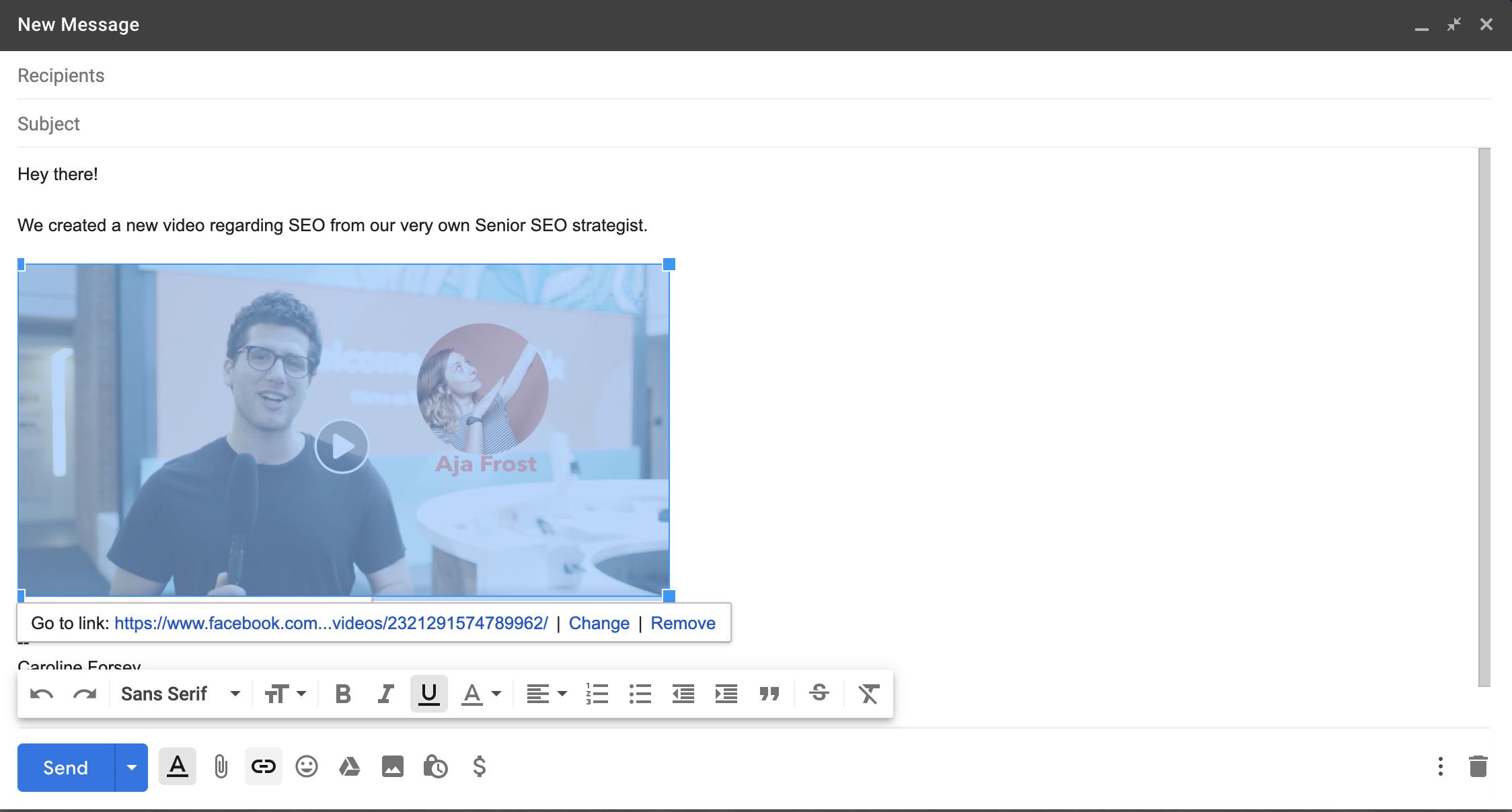 insertar-video-correo electrónico
