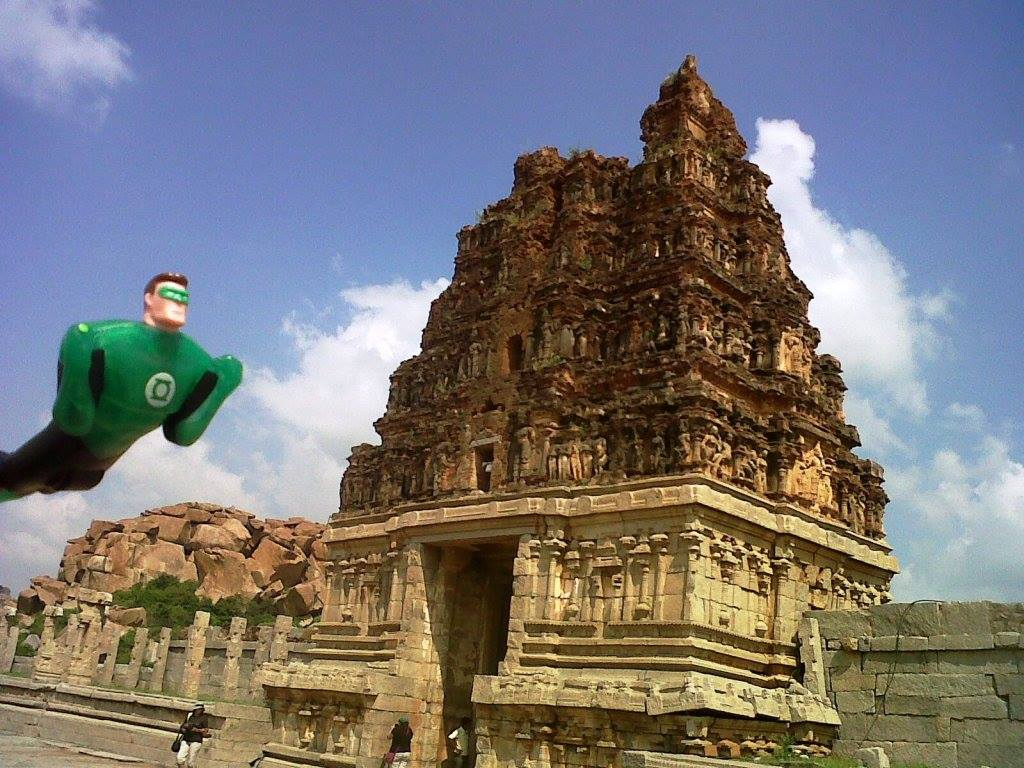 Green Lantern zooms into Hampi