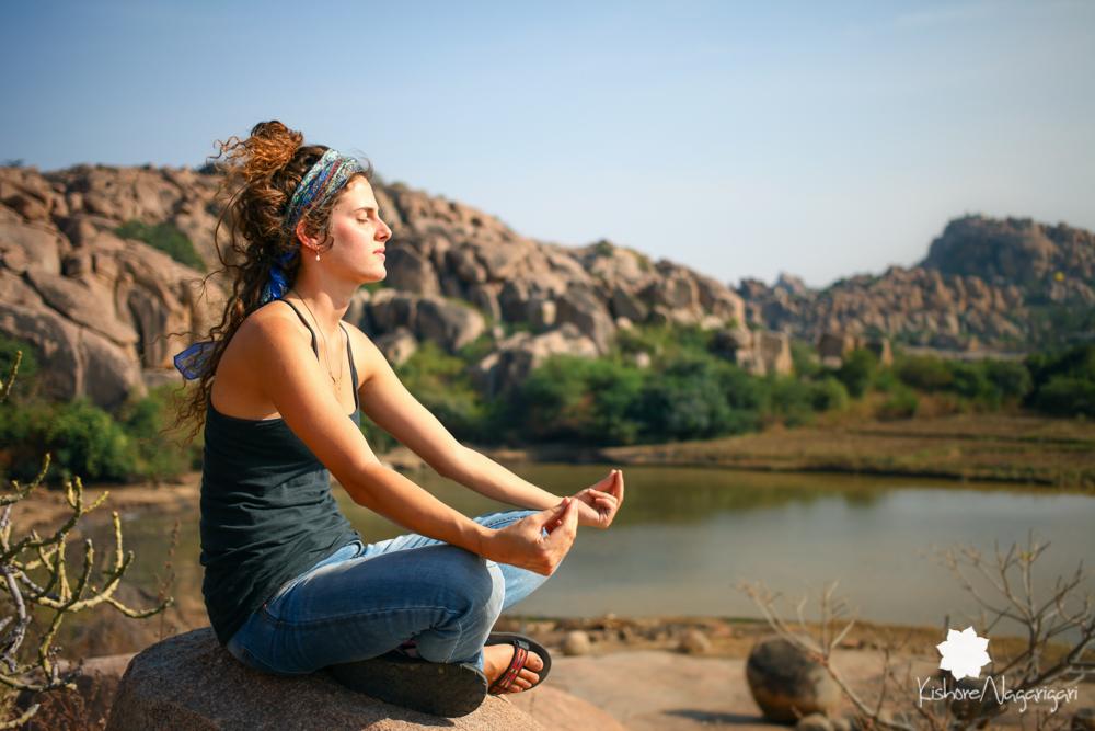 Meditators Hampi kishore nagarigari