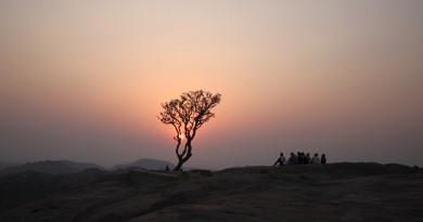 Sunset at Anjaneya Hill Hampi