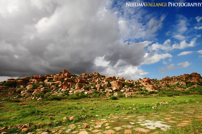 Clouds and Boulders at Hampi