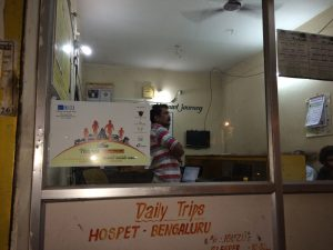 Posters at travel agent offices in Hospet