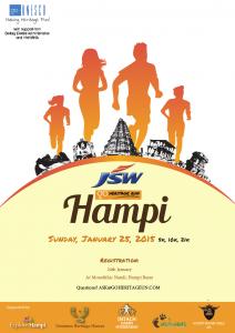 JSW Go Heritage Run Poster