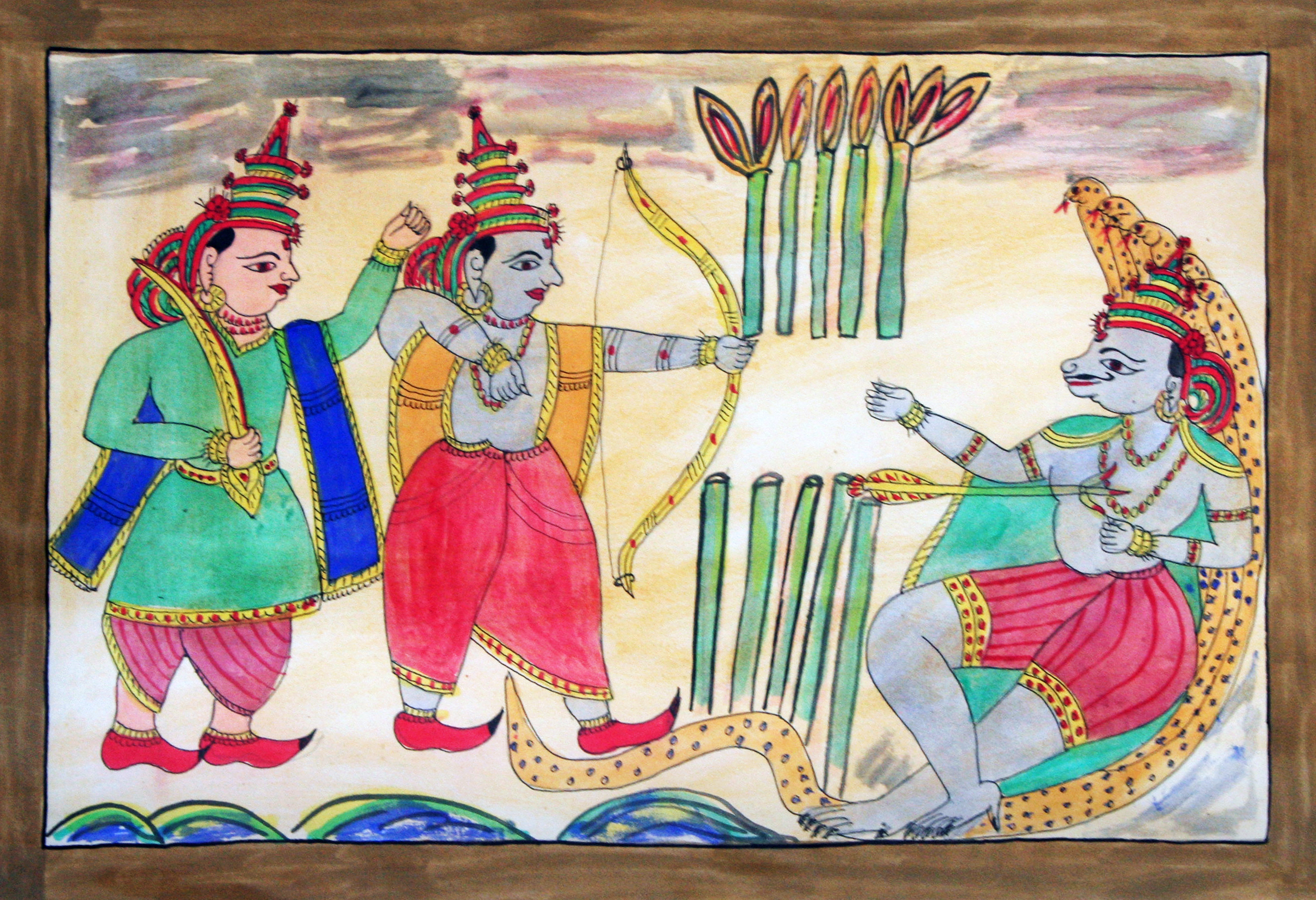 Scroll Painting form know as Pinguli from Maharashtra