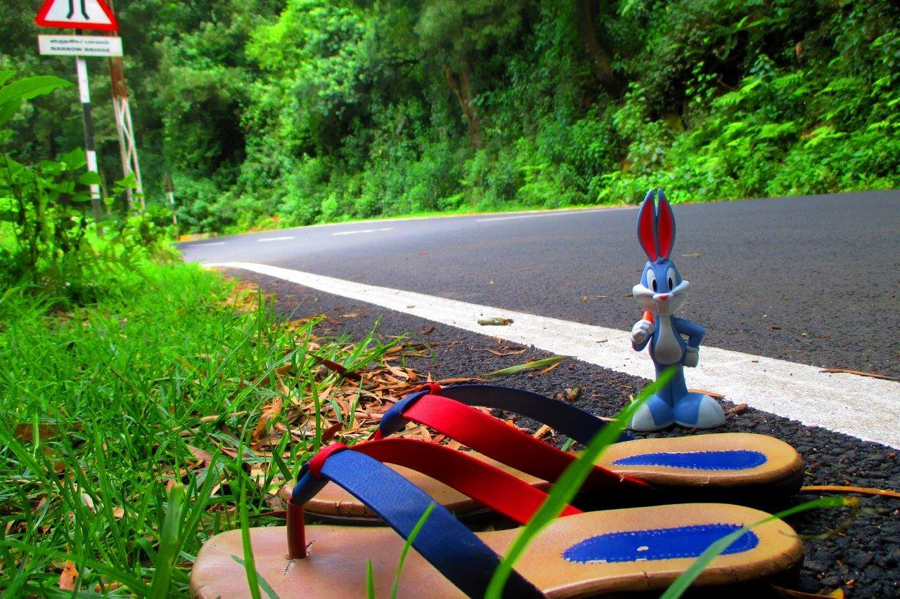 Bugs bunny encounters a giant pair of slippers
