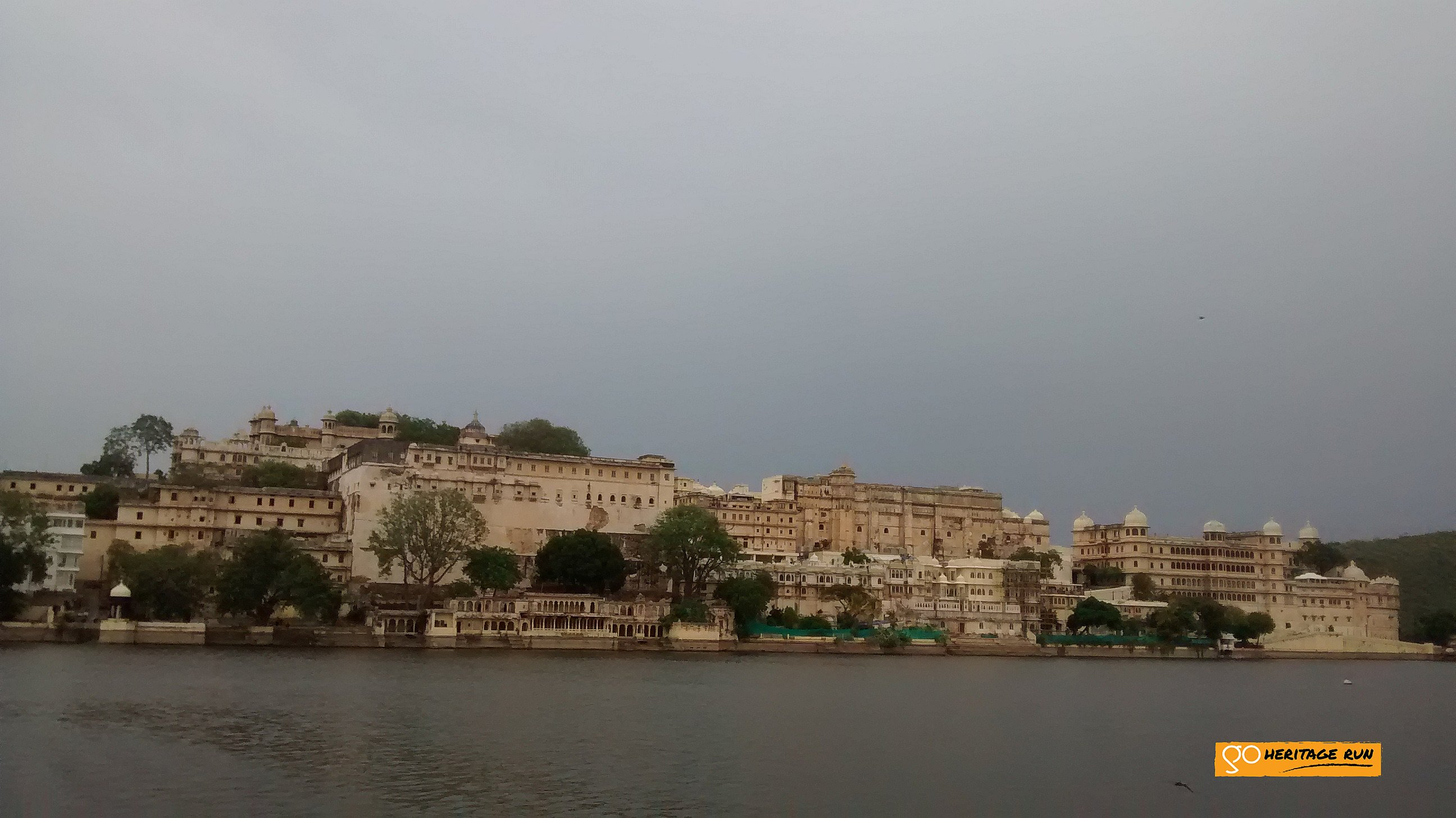 The Udaipur palace complex