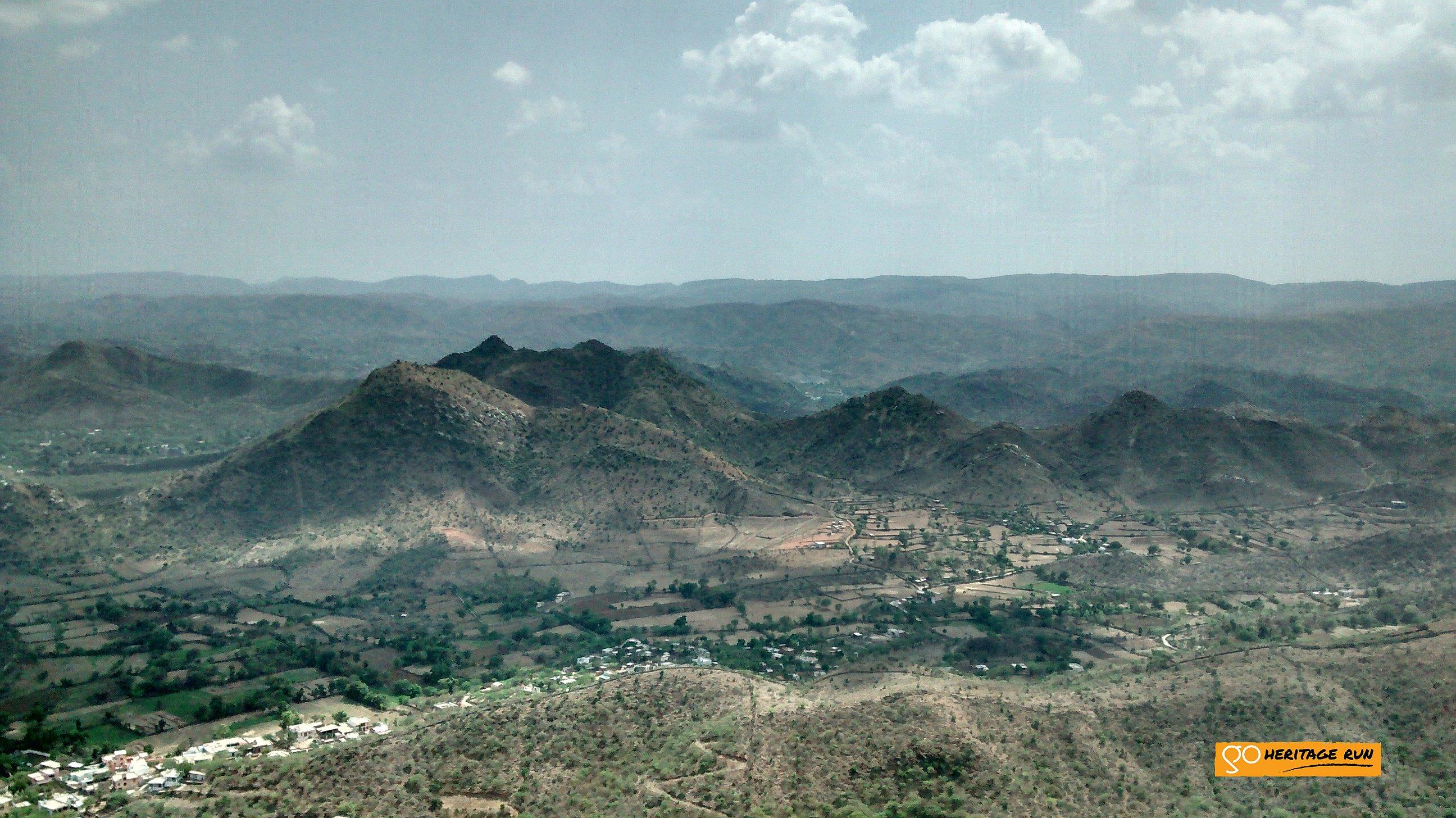 View from Sajjangarh fort