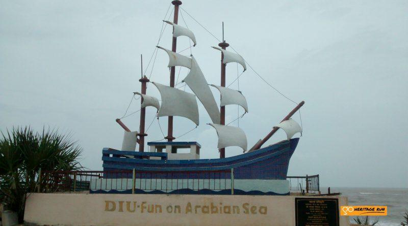 Diu-fun on arabian sea