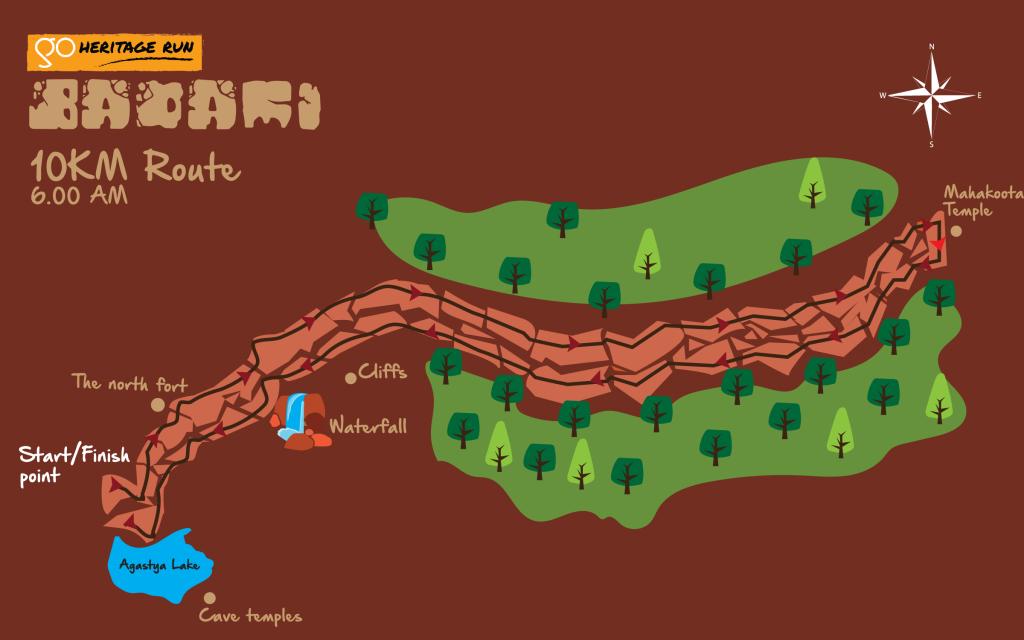 Badami 10K Run Route