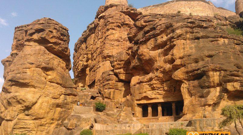 Badami Temple Pillars