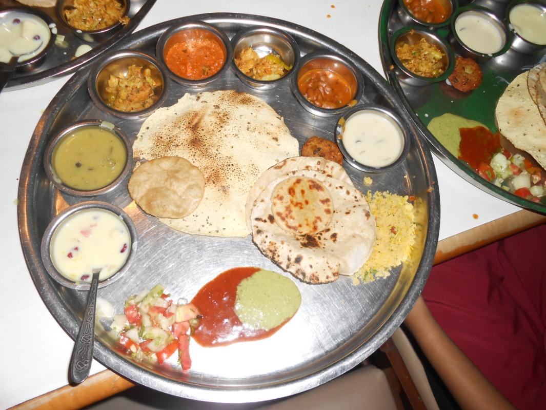 Rajasthani Thali at Natraj Hotel