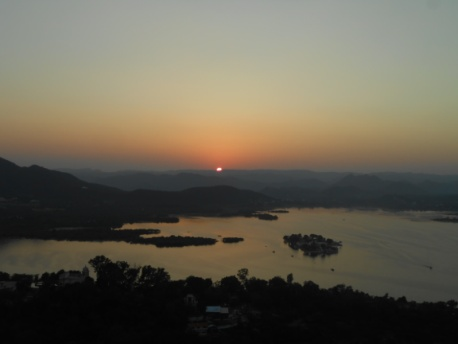 The amazing view of Sunset from Karni Mata Temple