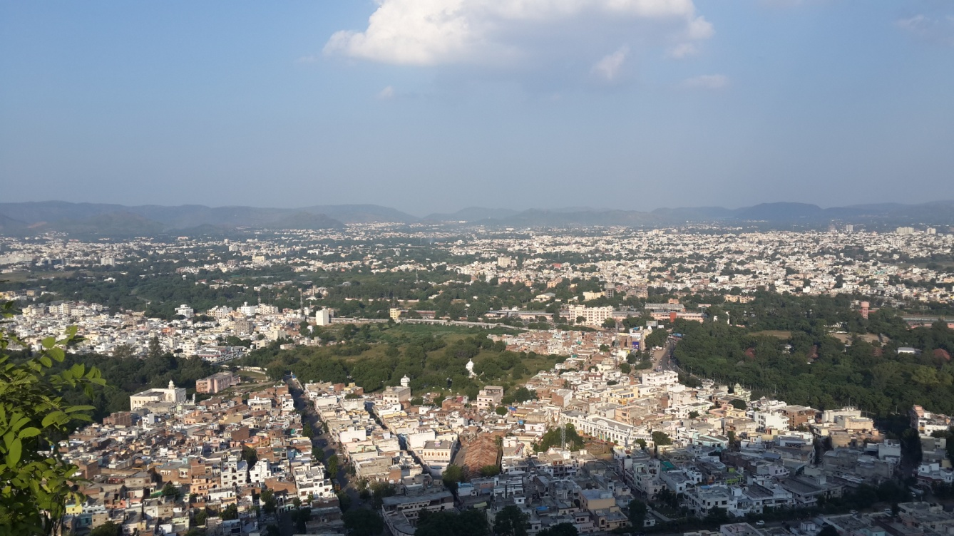 The city view from Karni Mata Temple
