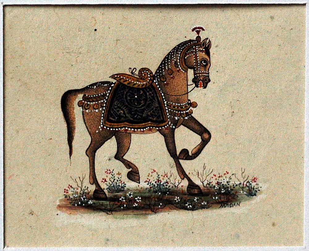 Horse, miniature painting