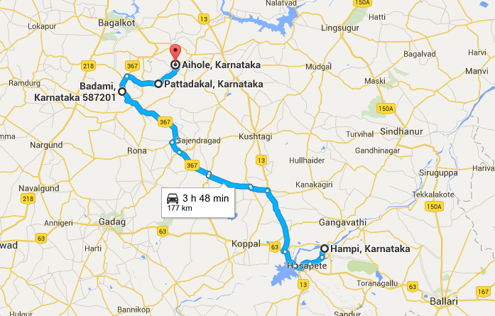 Travel to Badami, Pattadakal and Aihole