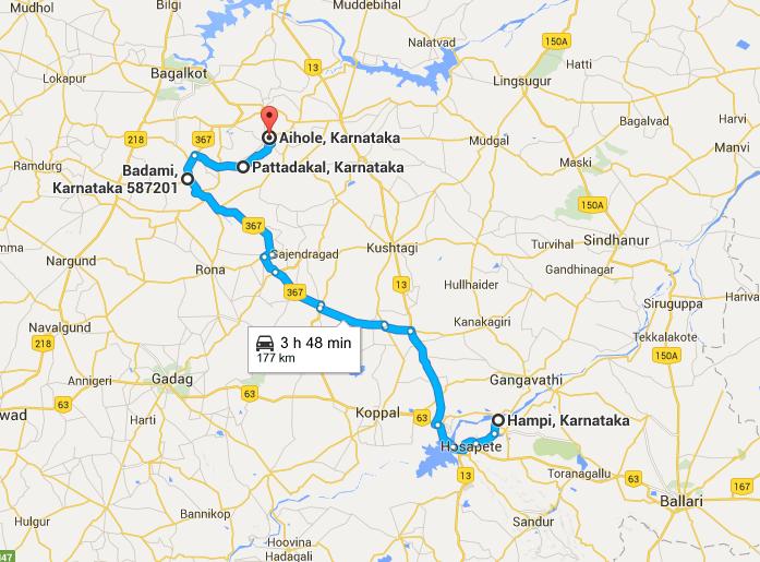 Travel to Badami, Pattadakal and Aihole