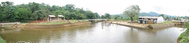 Panoramic shot of Triveni Sangam at Coorg Source: Sabarish Raghupathy/Flickr