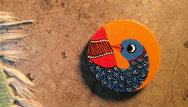 gond-painting-medal-go-heritage-run-khajuraho