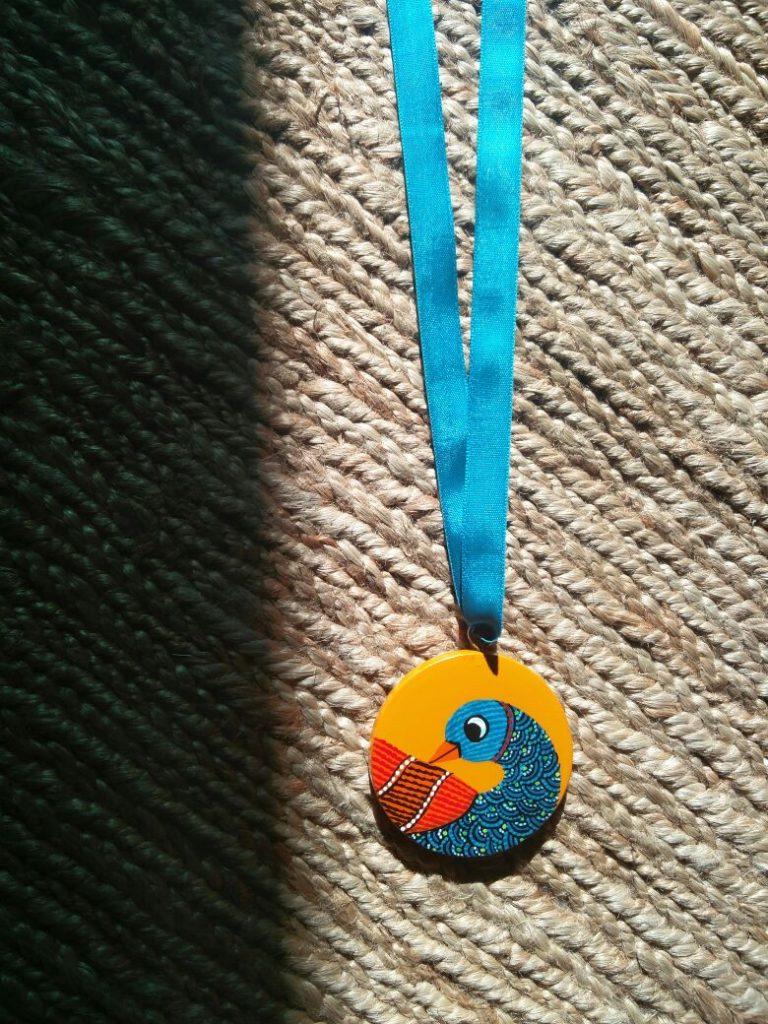 gond-painting-medal-go-heritage-run-khajuraho-2