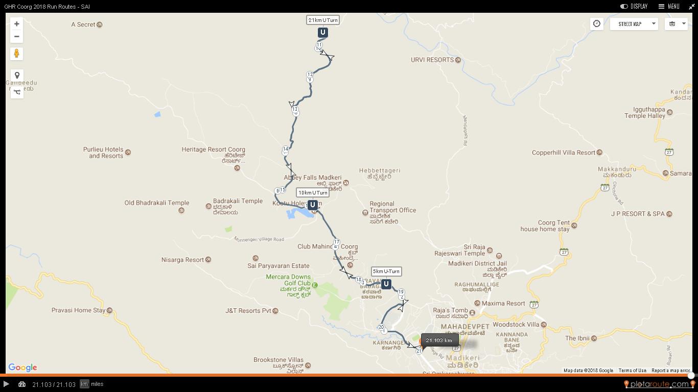 ghr coorg run routes