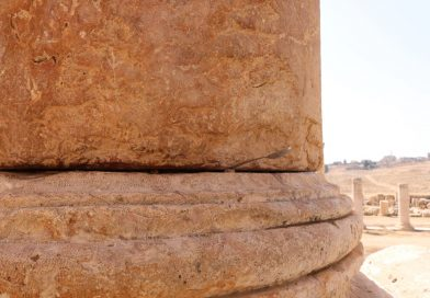 Runcation Jordan Jerash, Temple of Artemis, the moving pillar!