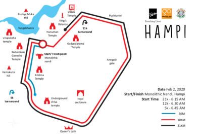Go Heritage Run Hampi 2020 Run Routes