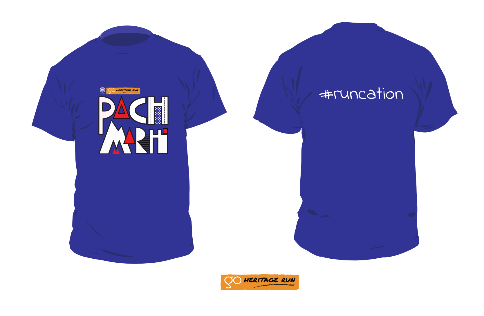 Go Heritage Run Pachmarhi 2020 tshirt