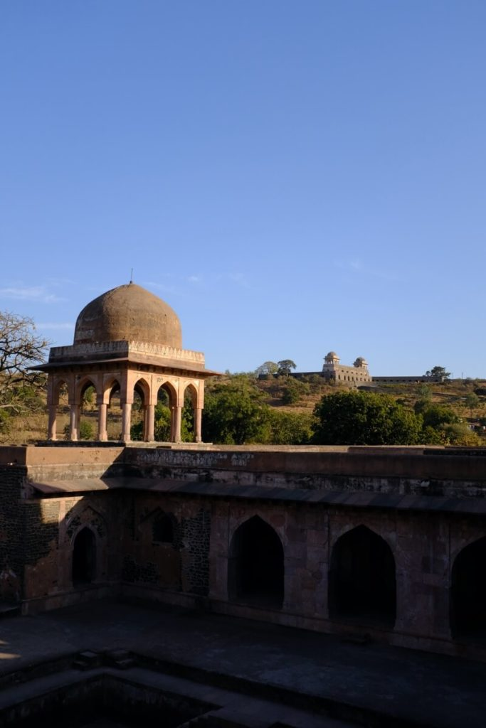View from Baz Bahadur Palace overlooking Roopmati Pavilion