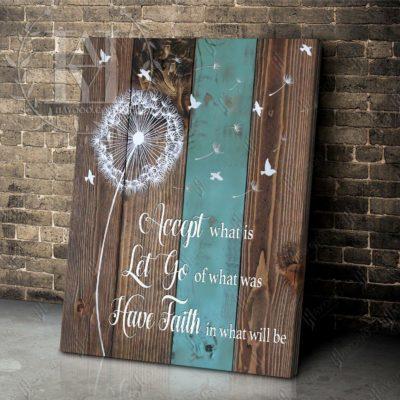 dandelion-on-mint-wood-canvas-art
