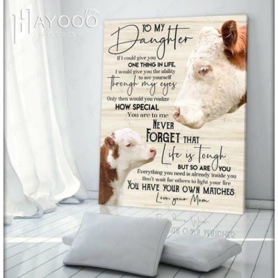 Cow Canvas Life Is Tough But So Are You