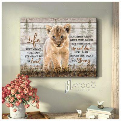 baby lion canvas