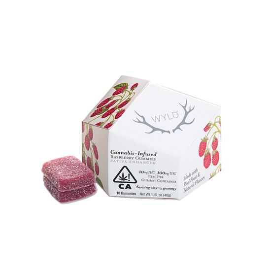 Wyld - Raspberry Gummies (S) (100mg THC)