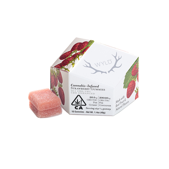 Wyld - Strawberry Gummies (H) (200mg CBD + 10mg THC)