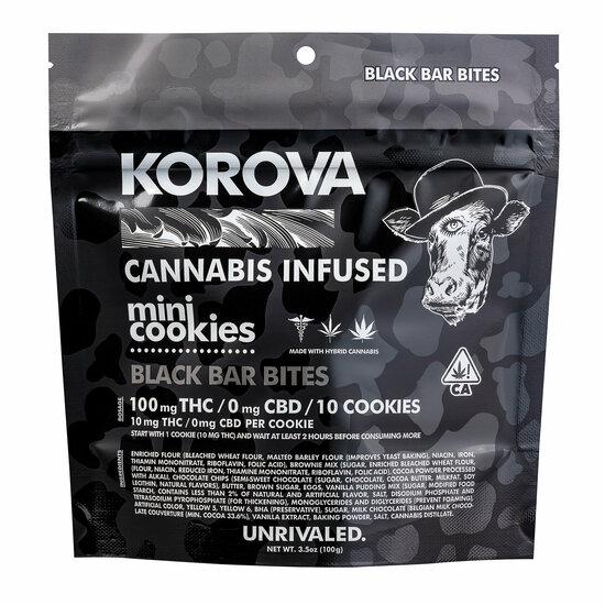 Korova - Black Bar Bites - 10 Mini Cookies