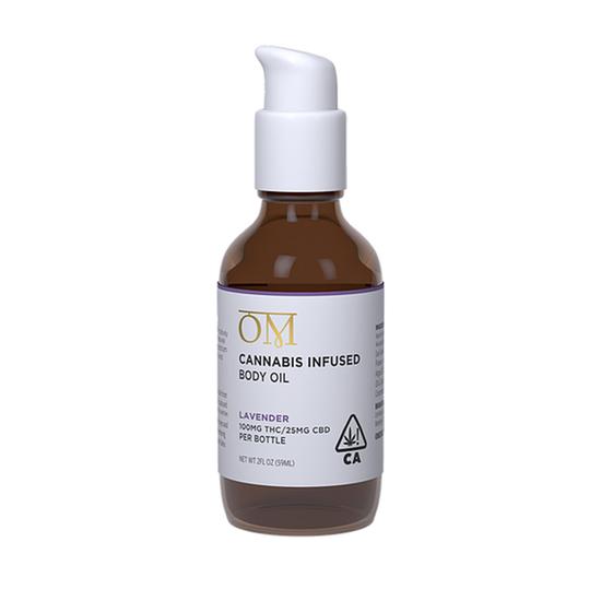 OM Body - Lavender Body Oil (100mg THC / 25mg CBD)