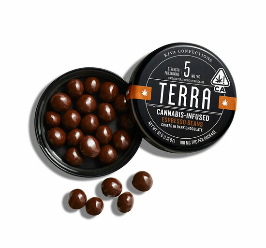 KIVA - Terra Bites - Espresso (100mg THC)