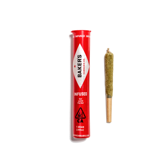 Baker's infused Preroll tube and preroll