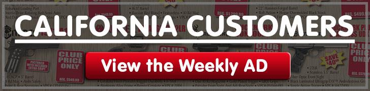 California customers Discount Club Members Specials!