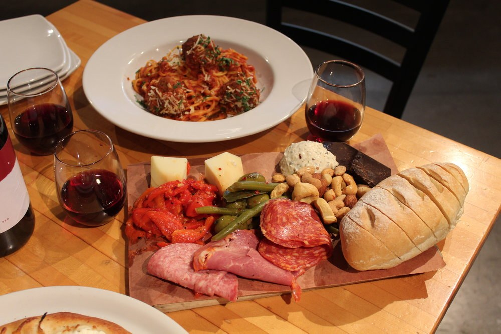 TC eggingtons Pasta Dinner Charcuterie Board