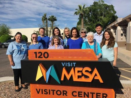 Visit Mesa Staff Photo Blue Shirts Autism Awareness ibcces