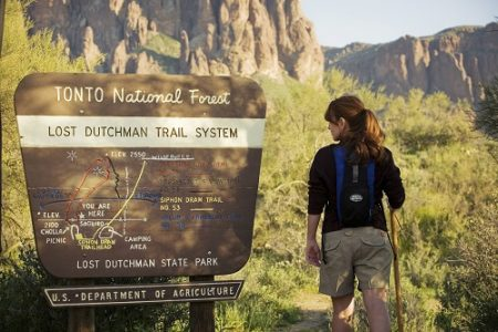 Hiking at Lost Dutchman