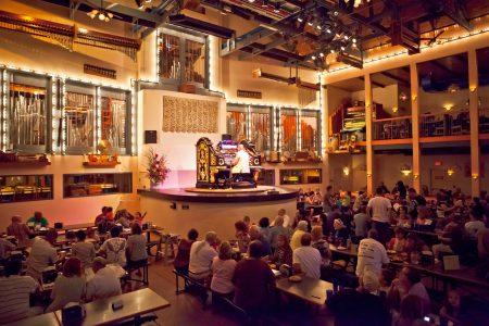 Organ Stop Pizza organ pipe dining room