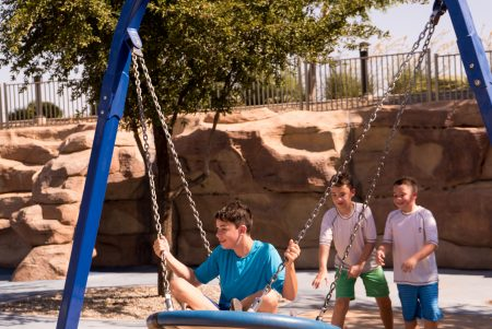 Mesa AZ Autism Travel Riverside Park Swing