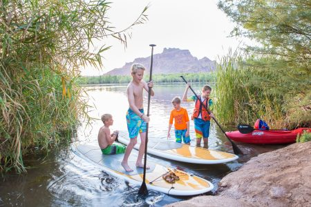 Salt River Mesa Kids Paddle Boarding