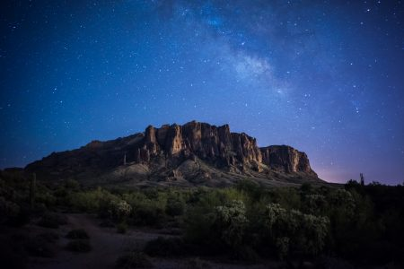 Superstition Mountains at Night