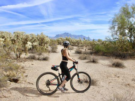Mountain Biking Girl AOA Adventure Media Tour